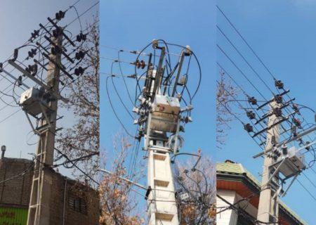 ۴ دستگاه سکسیونر بر روی فیدرهای جنوب کرج نصب شد