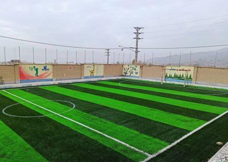 افتتاح نخستین زمین چمن مصنوعی درون مدرسه ای در ناحیه ۳ کرج