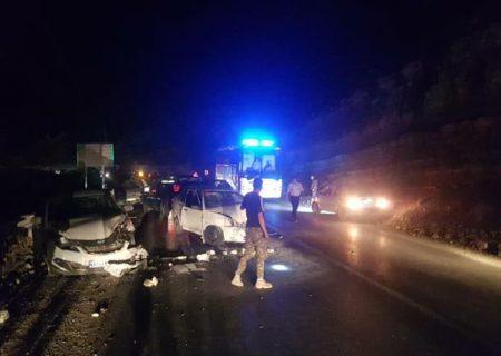 تصادف ۴ خودرو در جاده چالوس و مصدومیت ۷ نفر